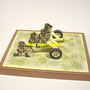 WWII German PAK Africa Korps cannon armoured car artillery man armored vehicle military soldier scene model models for on sale shop store