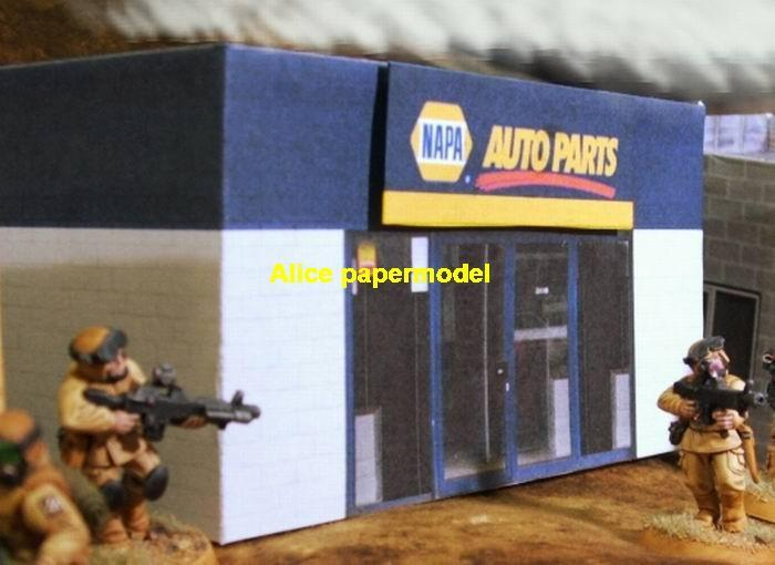 shop house car service Auto Parts vehicle battlefield city street fighting warzone war zone building scene abandon ruin Military Soldiers Soldier model diorama Scenery base models kit on for sale store shop