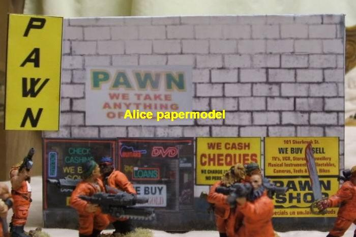 pawn mortgage house shop supermarket battlefield city street fighting warzone war zone building scene abandon ruin Military Soldiers Soldier model diorama Scenery base models kit on for sale store shop