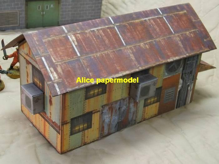 Sloped Roof house city war motel street fighting warzone battlefield terrorist Iraq Syria Libra building scene ruin abandon Military Soldiers model diorama Scenery base models kit on for sale store shop