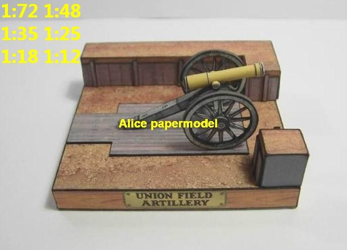 US USA civil war Union Korps cannon armoured car artillery man armored vehicle military soldier scene model models for on sale shop store
