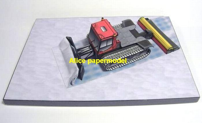 Snow mobile Snowmobile Crawler truck Antarctic South Pole ice PistenBully  Military Soldiers scene model diorama models kit on for sale store shop