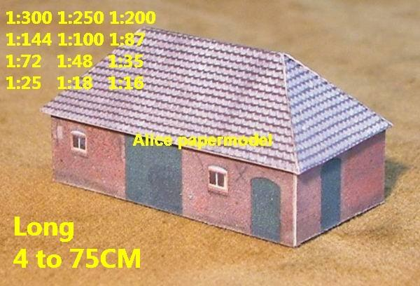 Europe country countryside rural area village villa house community WWII ruin abandon battlefield warzone area Military Soldiers model scene diorama Scenery base models kit on for sale store shop
