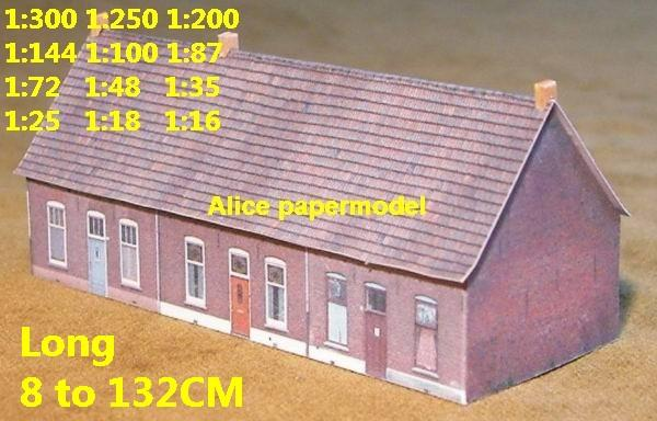 Europe countryside country rural area village villa barn house WWII ruin abandon battlefield warzone area Military Soldiers model scene diorama Scenery base models kit on for sale store shop