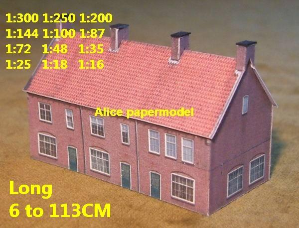 Europe village rural area country countryside villa house community WWII ruin abandon battlefield warzone area Military Soldiers model scene diorama Scenery base models kit on for sale store shop