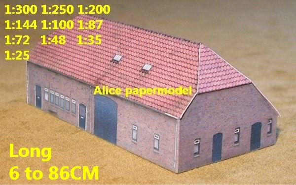 country countryside village rural area villa house community WWII ruin abandon battlefield warzone area Military Soldiers model scene diorama Scenery base models kit on for sale store shop