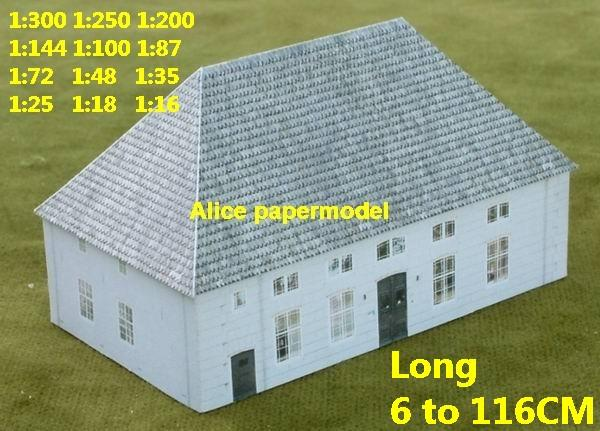 Europe country countryside rural area village villa house community WWII abandon ruin warzone battlefield area Military Soldiers model scene diorama Scenery base models kit on for sale store shop