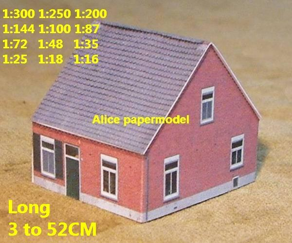 Europe country countryside village rural area villa house community WWII ruin abandon battlefield warzone area Military Soldiers model scene diorama Scenery base models kit on for sale store shop
