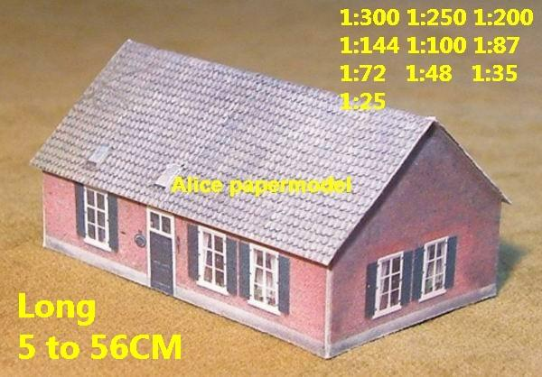 Europe countryside country rural area village villa house building WWII ruin abandon battlefield warzone area Military Soldiers model scene diorama Scenery base models kit on for sale store shop