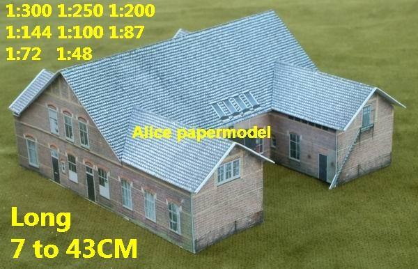 villa house WWII ruin abandon battlefield warzone area Military Soldiers model scene diorama Scenery base models kit on for sale store shop