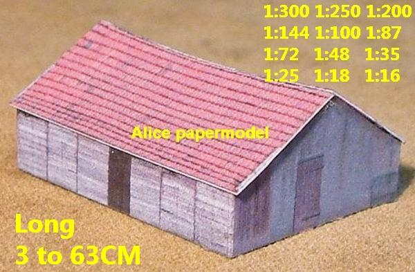 Europe country countryside rural area village barn villa building house WWII ruin abandon battlefield warzone area Military Soldiers model scene diorama Scenery base models kit on for sale store shop