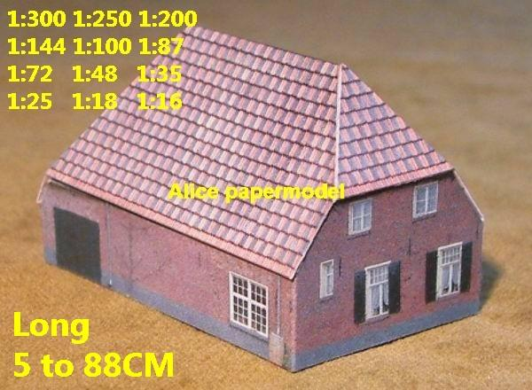 Europe countryside country rural area village barn villa building house WWII ruin abandon battlefield warzone area Military Soldiers model scene diorama Scenery base models kit on for sale store shop
