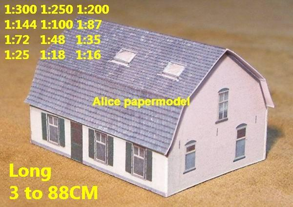 Europe France normandy D-DAY D DAY country countryside rural area village villa barn house WWII ruin abandon battlefield warzone area Military Soldiers model scene diorama Scenery base models kit on for sale store shop