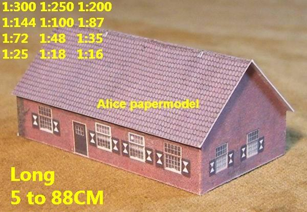 Europe France countryside country rural area village villa house barn WWII ruin abandon battlefield warzone area Military Soldiers model scene diorama Scenery base models kit on for sale store shop