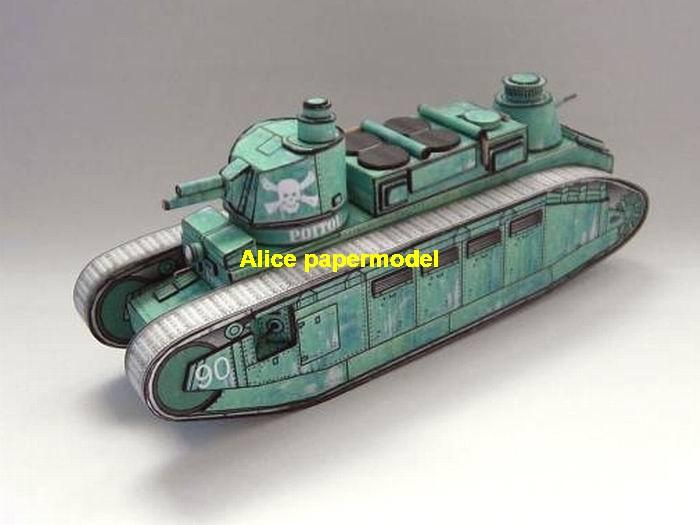 WWII France French army char 2 char2 char2C II tank military car model models soldier scene on for sale store shop