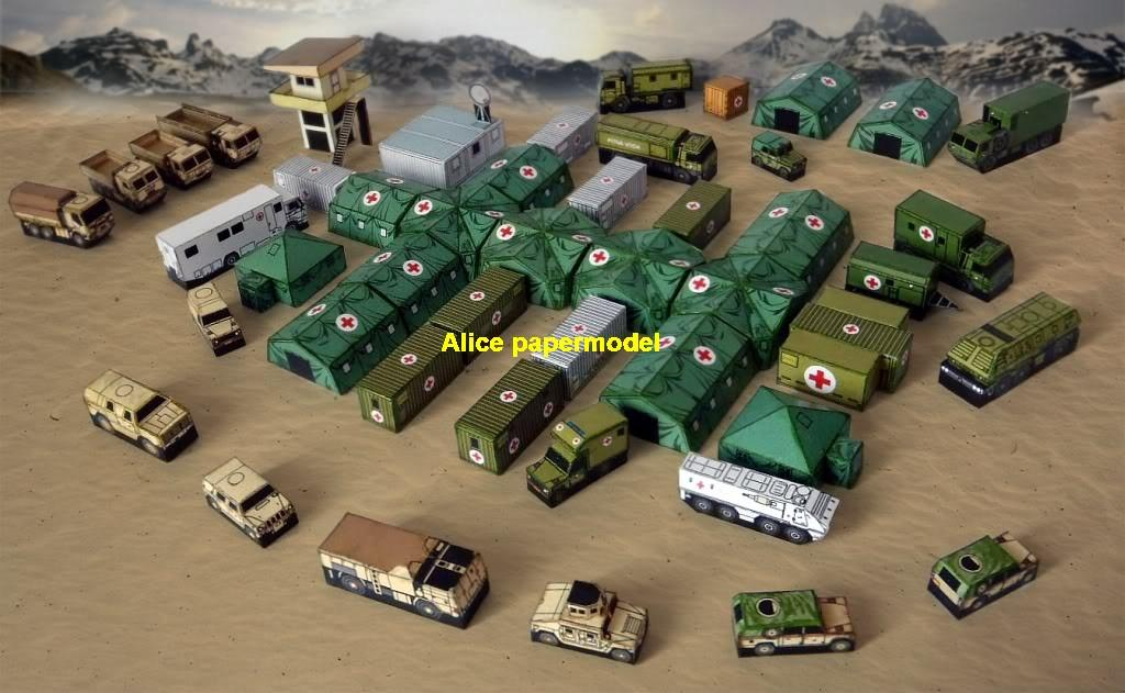 US army base Iraq middle East desert Sentinel tower tent Diorama mini scale hummer jeep warzone battlefield model scene scenery models kit on for sale store shop