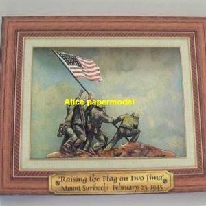 WWII US USA army marine Iwo Jima Die Flagge wird gesetzt ruin abandon battlefield warzone Military Soldiers model scene diorama Scenery models kit on for sale store shop