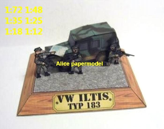 WWII Germany German Nazi VW Ilts jeep jeeps armoured car jeep armored vehicle vehicles model models soldier scene for on sale shop store