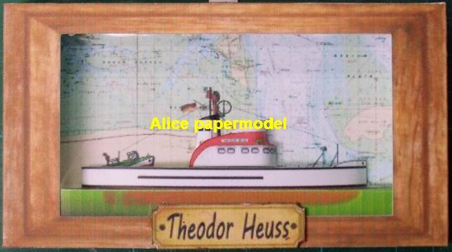 Germany German Rescue Vessel Theodor Heuss ship boat models model scene paper on for sale store shop