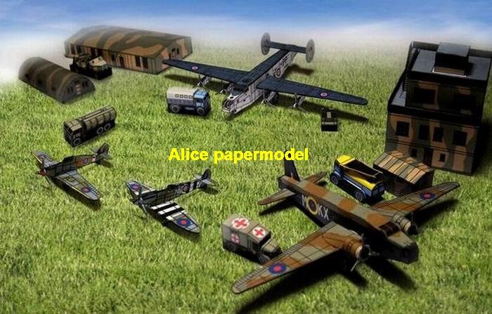 WWII UK US Military air base bomber fighter hangar factory warehouse garage tent tower Diorama small mini scale hummer jeep truck warzone battlefield model scene scenery models kit on for sale store shop