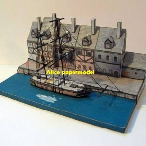 ship base port frigate military NAVY Venice Italy harbor sailship warship naval battle battlefield warzone scene diorama model models kit on for sale store shop