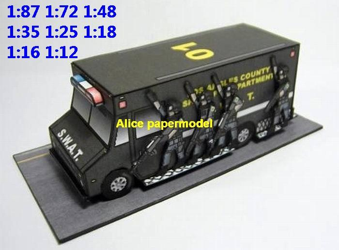 USA US SWAT Special police armoured car armored vehicle jeep military soldier scene model models for on sale shop store