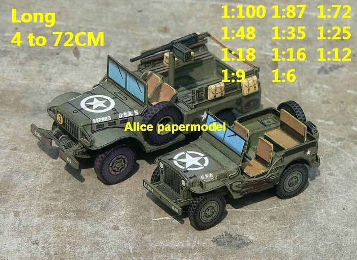 WWII WW2 US USA army Dodge WC52 WC-52 Jeep Willys MB tank artillery truck MBT armored vehicle vehicles car military big large scale size car model models soldiers soldier scene on for sale shop store