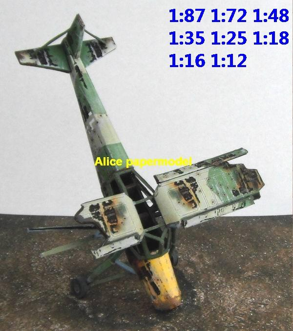 WWII WW2 German Fi-156 Fi156 Storch Plane crash abandon ruin battlefield warzone Military Soldiers Soldier model scene diorama base models kit on for sale store shop