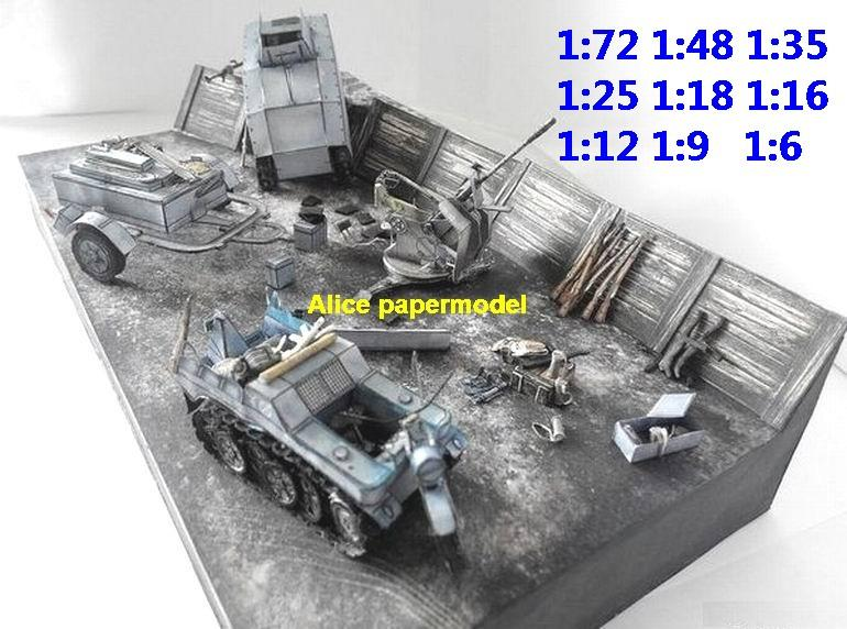 WWII WWI UK German tank Trenches Trenche ditch battle village city fighting war warzone battlefield building scene ruin abandon Military Soldiers model diorama Scenery base models kit on for sale store shop