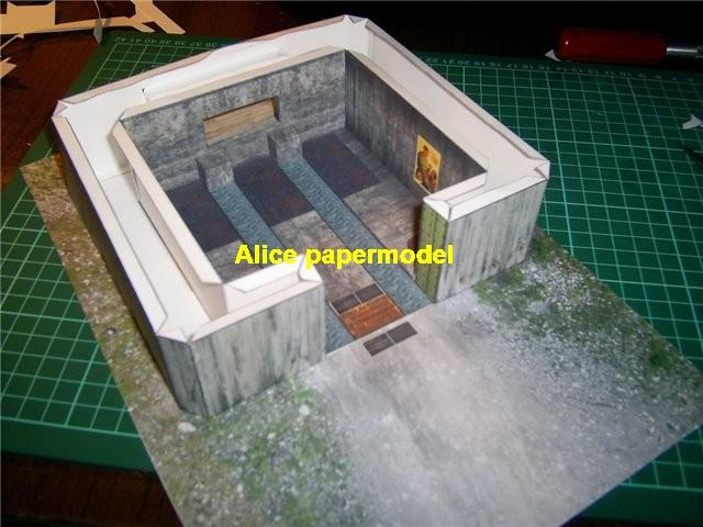 artillery cannon base bunker banner fort fortress gun turret abandon ruin battlefield warzone DC Marvel Avengers Military Soldiers Soldier model scene diorama base models kit on for sale store shop