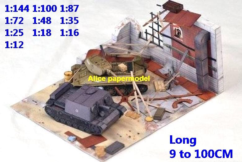 WWII German vs Russia Stalingrad Leningrad tiger T34 T-34 tank battle village house city fighting war warzone battlefield building scene ruin abandon Military Soldiers model diorama Scenery base models kit on for sale store shop