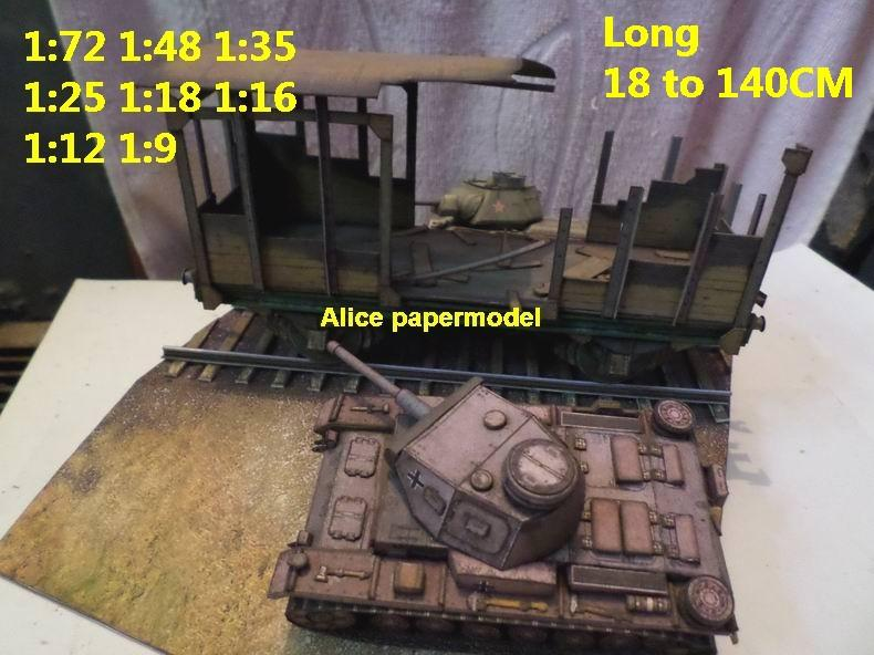 the model do not contain the tank ,have the train size 1 1:72 length width height 18*13*7CM size 2 1:50 length width height 25*19*11CM size 3 1:35 length width height 35*26*15CM size 4 1:25 length width height 50*37*22CM size 5 1:18 length width height 70*52*30CM size 6 1:16 length width height 77*57*33CM size 7 1:12 length width height 100*73*45CM size 8 1:9 length width height 140*103*60CM