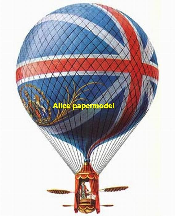 the United Kingdom UK blue Lunardi Hydrogen balloon Airship old vintage Zeppelin Rowing boat hot air hotair large big size scale plane models model kit on for sale store shop