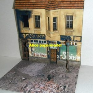 WWII WW2 German city fight battle abandon ruin battlefield warzone Military Soldiers Soldier model scene diorama base models kit on for sale store shop