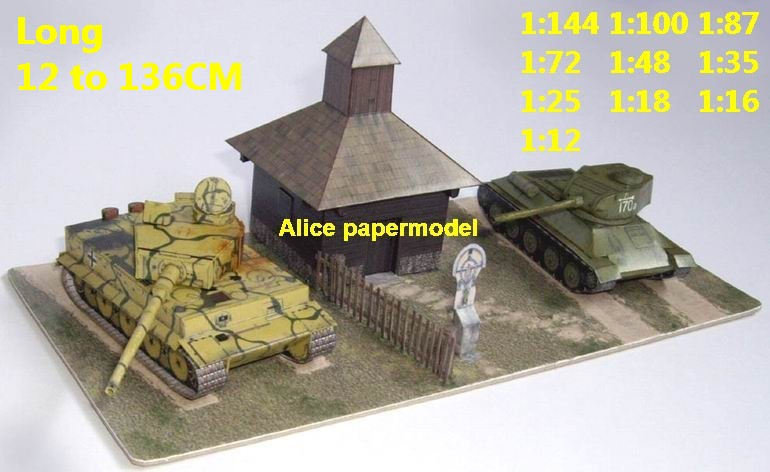 WWII German vs Russia tiger T34 T-34 tank battle village house city  fighting war warzone battlefield building scene ruin abandon Military  Soldiers
