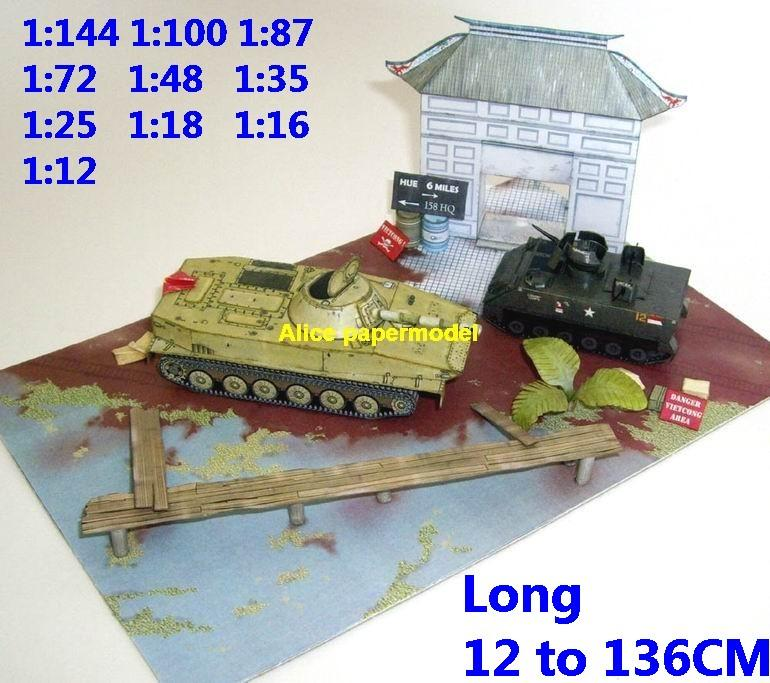 US M-113 M113 vs vietnam war PT-76 PT76 amphibious tank battle village house city fighting war warzone battlefield building scene ruin abandon Military Soldiers model diorama Scenery base models kit on for sale store shop