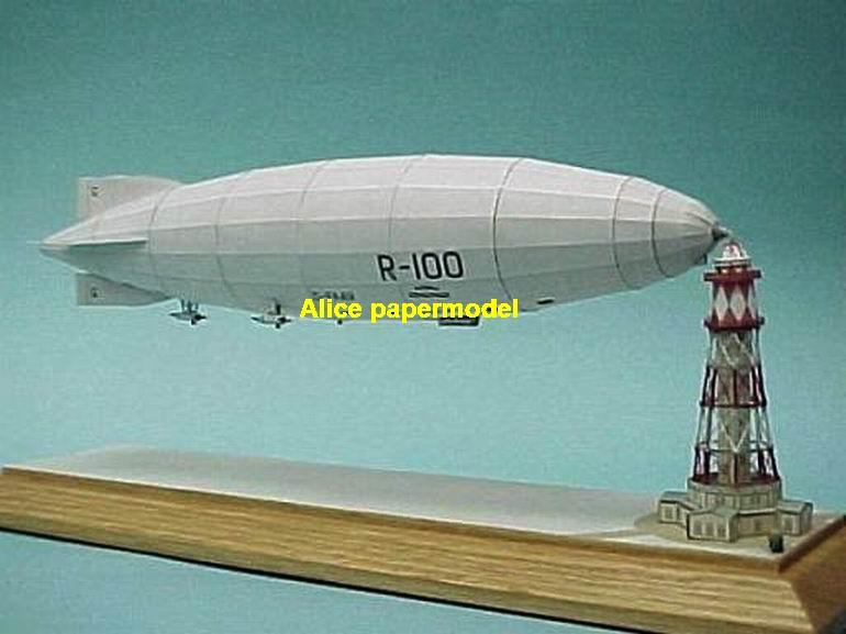 UK United Kingdom R-100 R100 Zeppelin Airship balloon vintage large big size scale plane models model kit on for sale store shop