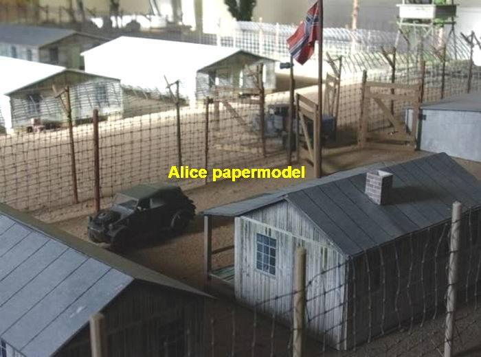 Command HQ WWII WW2 Germany German Bunkers Bunker tent Sentinel tower turret barrack barracks camp warehouse base army battlefield warzone war zone building scene ruin abandon Military Soldiers Soldier model Scenery diorama models kit on for sale store shop