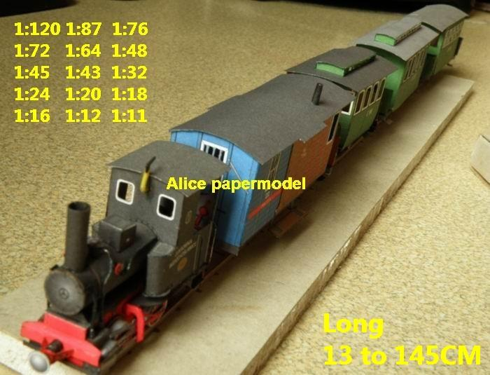 Steam locomotive train Passenger wagon waggon subway diesel rail large big size car model models soldiers soldier railway station scene on for sale shop store