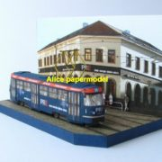 Europe trolley tram bus railway station scene locomotive car train Steam Passenger wagon waggon diesel subway rail big large size car model models soldiers soldier on for sale shop store
