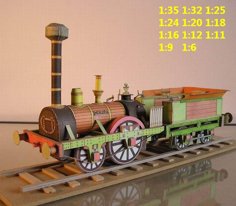 vintage Moravia steam locomotive train Passenger rail wagon waggon tram subway big large size car model models soldier soldiers railway station scene on for sale shop store