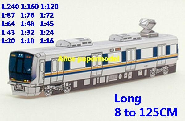 Passenger wagon tram subway Shinkansen JR train underground railway diesel rail Express big large size car models model soldier soldiers railway station scene on for sale shop store