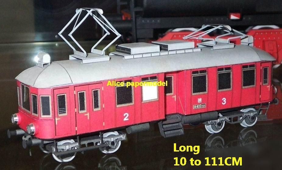 Electric trolley train bus locomotive Passenger waggon wagon cabin rail High speed subway tram big large size car model models soldier soldiers railway station scene on for sale shop store