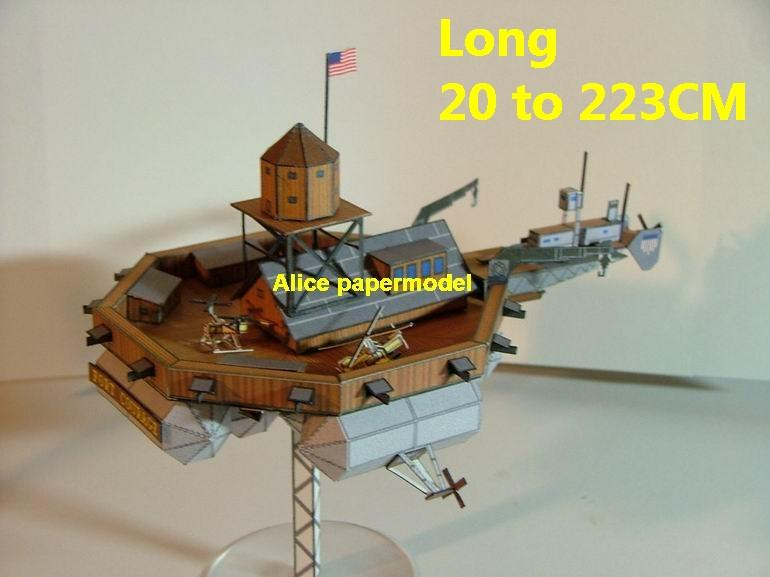SCFI Future steampunk steam punk aircraft carrier gunship airship fort Ironclad spaceship flying warship cruiser ship battleship big large scale size models model on for sale shop store