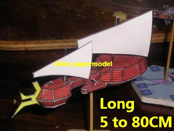 SCFI Future sailboat steam punk steampunk airship Ironclad spaceship flying warship cruiser ship battleship big large scale size models model on for sale shop store