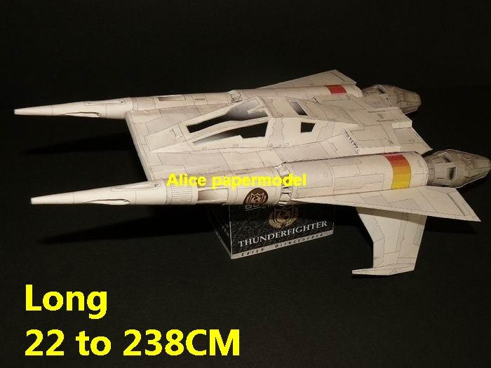 Future SCFI Buck Rogers Thunderfighter Thunder Fighter UFO alien starfighter universe cosmos spacecraft spaceship space station aircraft big large scale size models model on for sale shop store