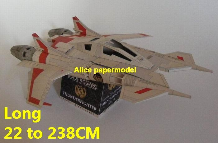 Future SCFI Buck Rogers Thunderfighter Thunder Fighter mkIII UFO alien starfighter universe cosmos spacecraft spaceship space station aircraft big large scale size models model on for sale shop store